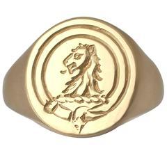 1960s Gold Signet Ring