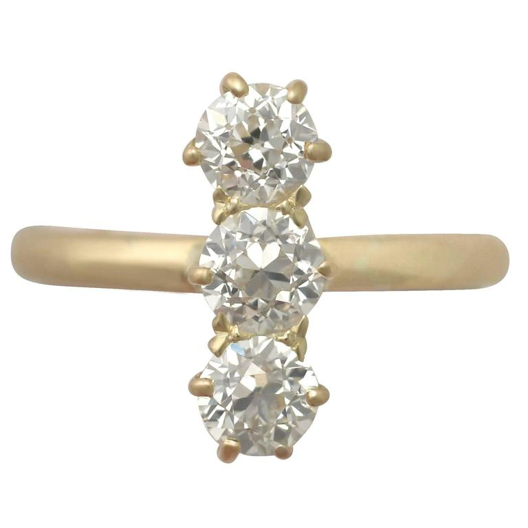 Carat diamond and yellow gold trilogy ring for sale for 26 carat diamond ring