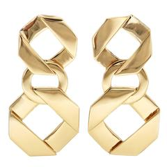 Cushion Fold Over Links Earrings