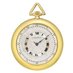 Cartier Yellow Gold Manual Wind Pocket Watch