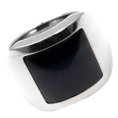 Cartier Santos Dumont Hawk's Eye Gold Ring