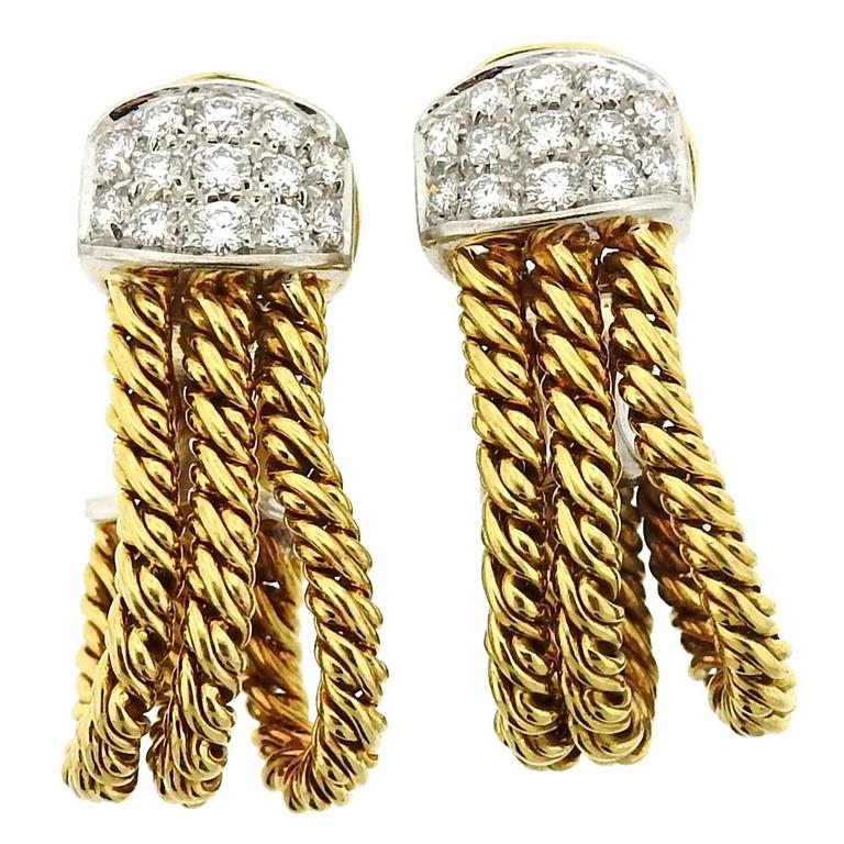 Pomellato Gold Diamond Earrings
