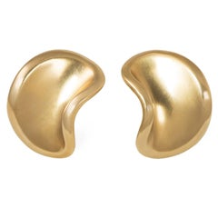 1987 Angela Cummings Gold Clip Earrings