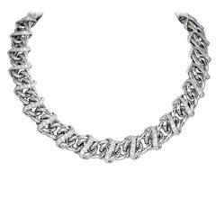 6.04 Carats Diamonds Gold Collar Necklace