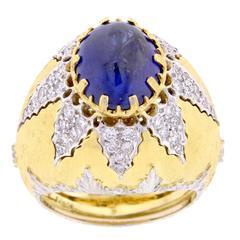 Mario Buccellati Sapphire Diamond Gold Ring