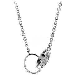Cartier Love Collection Interlocking Rings Necklace