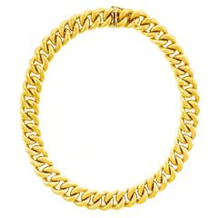 Tannler Heavy Gold Link Necklace