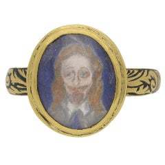 1650s English Charles I Memorial Skull Ring