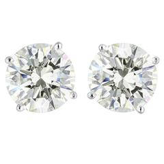 8.06 Carats Diamonds Gold Stud Earrings