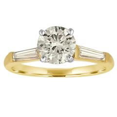 1.21 Carat GIA Certified Brilliant Diamond Two-Color Gold Ring