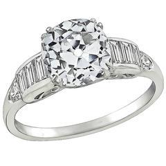 2.22 Carat Diamond Platinum Engagement Ring