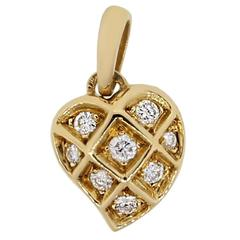 Cartier 0.25 Carat Diamond Gold Heart Pendant