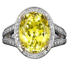 Canary Yellow Tourmaline Ring 7.11 Carat