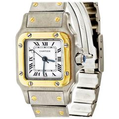 Cartier Ladies Yellow Gold Stainless Steel Santos Galbee Automatic Wristwatch
