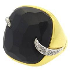 Pomellato Victoria Jet Diamond Gold Ring