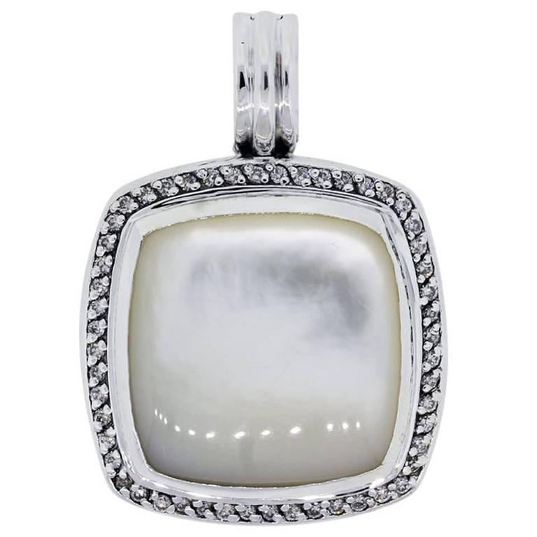 David yurman albion mother of pearl diamond sterling silver enhancer david yurman albion mother of pearl diamond sterling silver enhancer for sale aloadofball Gallery