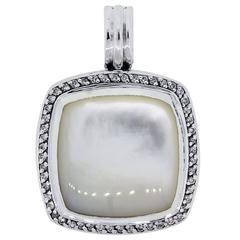 David Yurman Albion Mother-of-Pearl Diamond Sterling Silver Enhancer