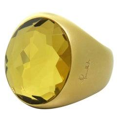 Pomellato Narciso Lemon Quartz Gold Ring