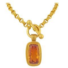 Carolyn Tyler Imperial Topaz Gold Pendant