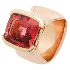 Jesse Deep Pink Tourmaline Gold Ring
