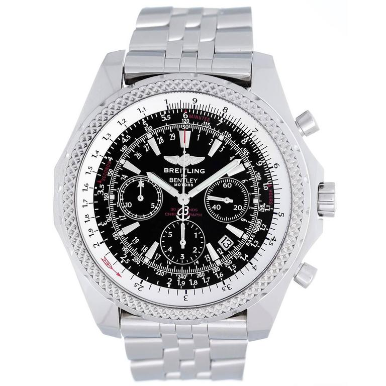 Breitling Stainless Steel Bentley Automatic Wristwatch Ref: Breitling Stainless Steel Bentley Motors Chronograph