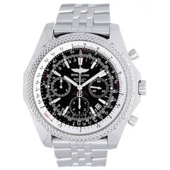 Breitling Stainless Steel Bentley Motors Chronograph Automatic Wristwatch