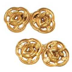 Wiese Gold Dragon Cufflinks