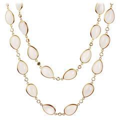 Arunashi Moonstone Sapphire Gold Necklace