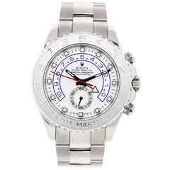 Rolex White Gold Yachtmaster II Oyster Perpetual Automatic Wristwatch