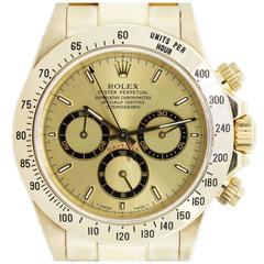 Rolex Yellow Gold Daytona Zenith Oyster Perpetual Automatic Wristwatch