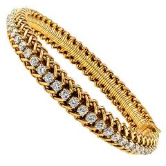 1970s Diamond Gold Line Bracelet