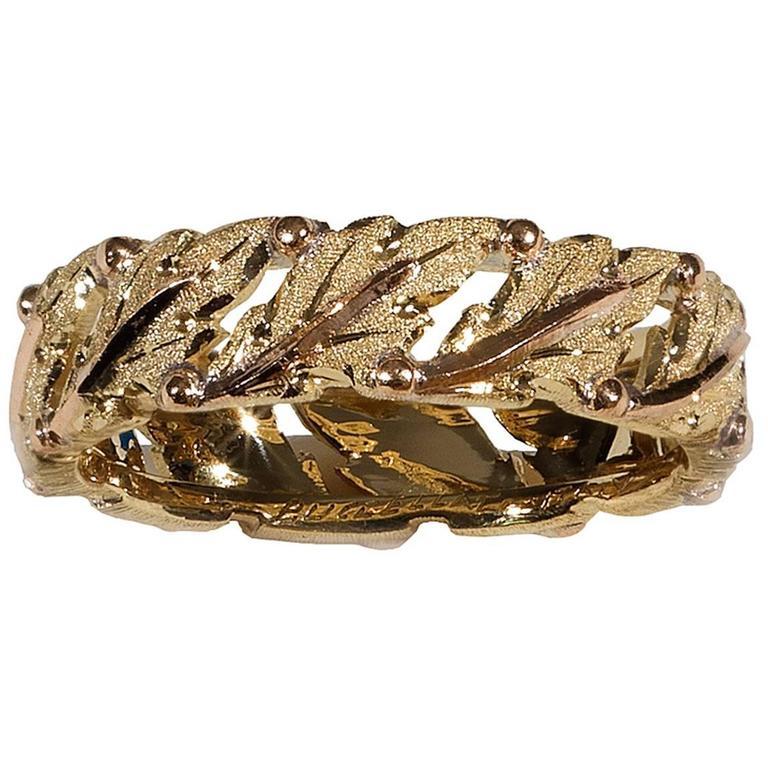 Buccellati Gold Textured Band Ring