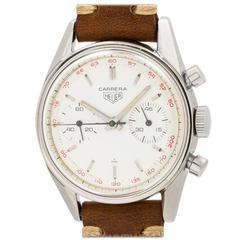 Heuer Carrera Stainless Steel 45 Tachymeter Wristwatch Ref 3647T
