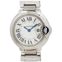 Cartier Lady's Stainless Steel Ballon Bleu Quartz Wristwatch