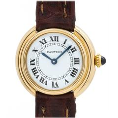 Cartier Ladies Yellow Gold Vendome Tank Manual Wind Wristwatch