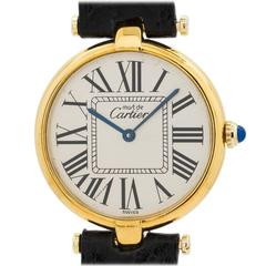 Cartier Vermeil Vendome Must de Cartier Tank Quartz Wristwatch