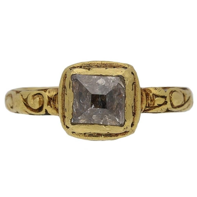 Post Medieval Tudor Diamond Gold Ring For Sale At 1stdibs