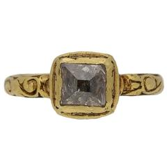 Post Medieval Tudor Diamond Gold Ring