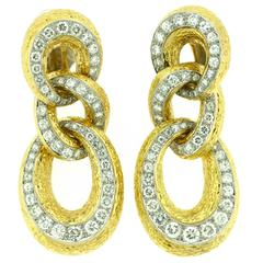1970s Van Cleef & Arpels Diamond Gold Earrings