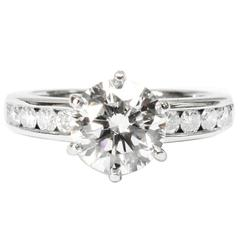 Tiffany & Co. 1.29 Carat GIA Certified Diamond Platinum Engagement Ring