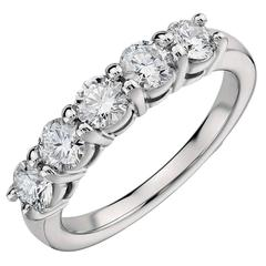 1.60 Carats Diamonds Eternal Diamond Platinum 5 Stone Ring