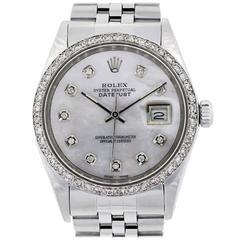 Rolex Stainless Steel Datejust Automatic Wristwatch Ref 69160