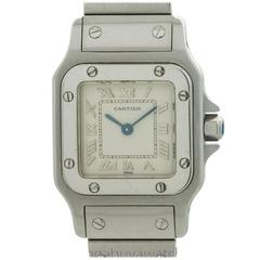 Cartier Ladies Stainless Steel Santos Quartz Wristwatch