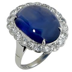 10.20 Carat Burma No Heat Sapphire Diamond Platinum Ring