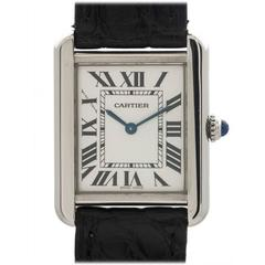 Cartier Stainless Steel Tank Solo Quartz Wristwatch