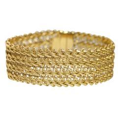 1970s Buccellati Gold Link Bracelet