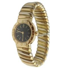 Bulgari Ladies Yellow and White Gold Quartz Wristwatch