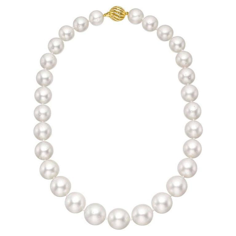 South Sea Pearl Gold Clasp Necklace 1
