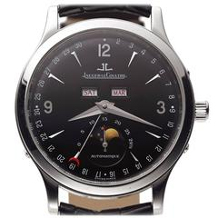 Jaeger-LeCoultre Stainless Steel Triple Date MoonPhase Automatic Wristwatch