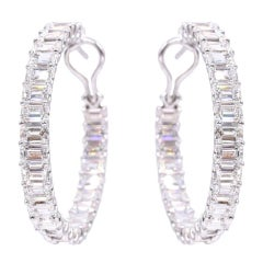 NALLY  Stunning G.I.A Certified Diamond Hoops